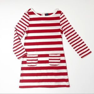 Gap red and white striped dress